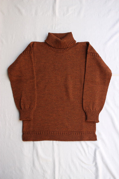GUERNSEY WOOLLENS / TRADITIONAL GUERNSEY POLO (GINGER)
