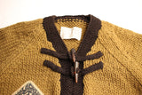 "BO'S GLAD RAGS / ""Thru-Hike"" Trail Guide Sweater (K19-04,KHAKI / BROWNIE BLACK)"