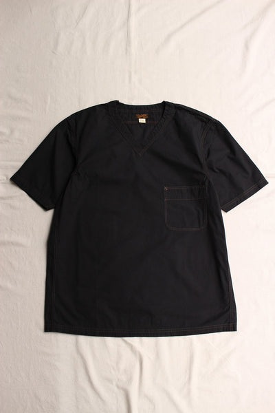 FREEWHEELERS / V NECKED PULLOVER SHORT SLEEVE SHIRT (#1723013,NAVY)