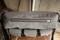 HINSON / WEATHER BEATER BANDOLEER BAG (WB-14-002,GRAY WOOL × COWHIDE)