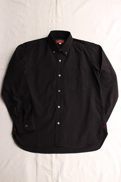 ADJUSTABLE COSTUME / WORK STYLE OX BUTTON DOWN SHIRT (AS-001,BLACK)