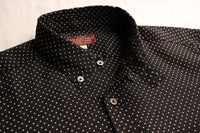 ADJUSTABLE COSTUME / WORK STYLE BUTTON DOWN SHIRT (AS-047,BLACK)