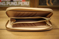 Rainbow Country / Saddle Leather Wallet (RCL-60019,BEIGE)
