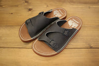 COLIMBO / PARK LODGE CAMP SITE LEATHER SANDALS (ZU-0700,GRAY)