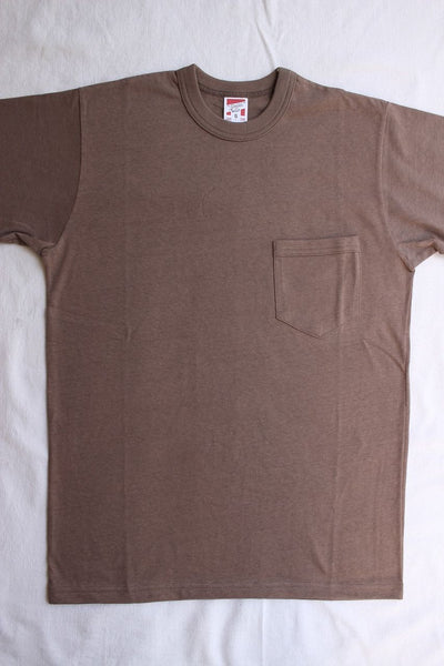 FREEWHEELERS / SET-IN SLEEVE POCKET T-SHIRT (#1815001,DARK GRAY)