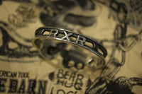 "BO'S GLAD RAGS / ""IRON AGE TYPE CUTOUT"" WRENCH BANGLE (A19-05SV,STERLING SILVER)"