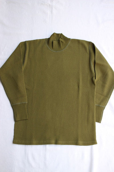 FREEWHEELERS / HIGH NECK THERMAL LONG SLEEVE SHIRT (#1835007,OLIVE)