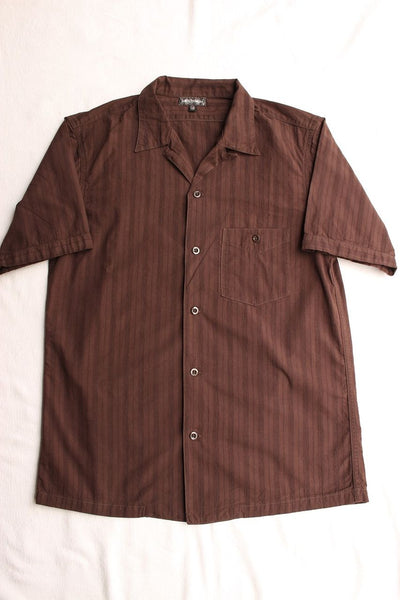 "FREEWHEELERS / ""Willie"" SHORT SLEEVE OPEN-NECKED SHIRT (#1923013,BROWN)"