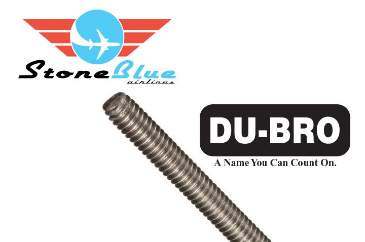 Du-Bro 2-56 Fully Thread Rod Single 12""