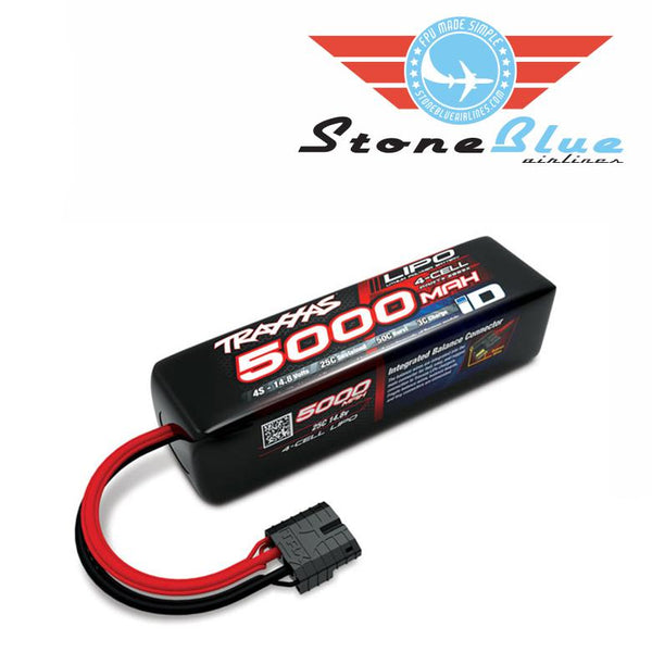 Traxxas ID Power Cell 5000mAh 14.8v 4-Cell 25C LiPo Battery 2889X
