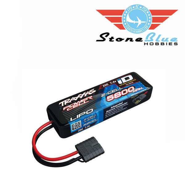 Traxxas ID Power Cell 5800mAh 7.4v 2S 25C Lipo Battery 2843X