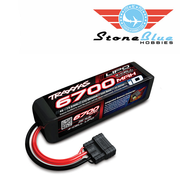 Traxxas ID Power Cell 6700mAh 14.8v 4-Cell 25C LiPo Battery