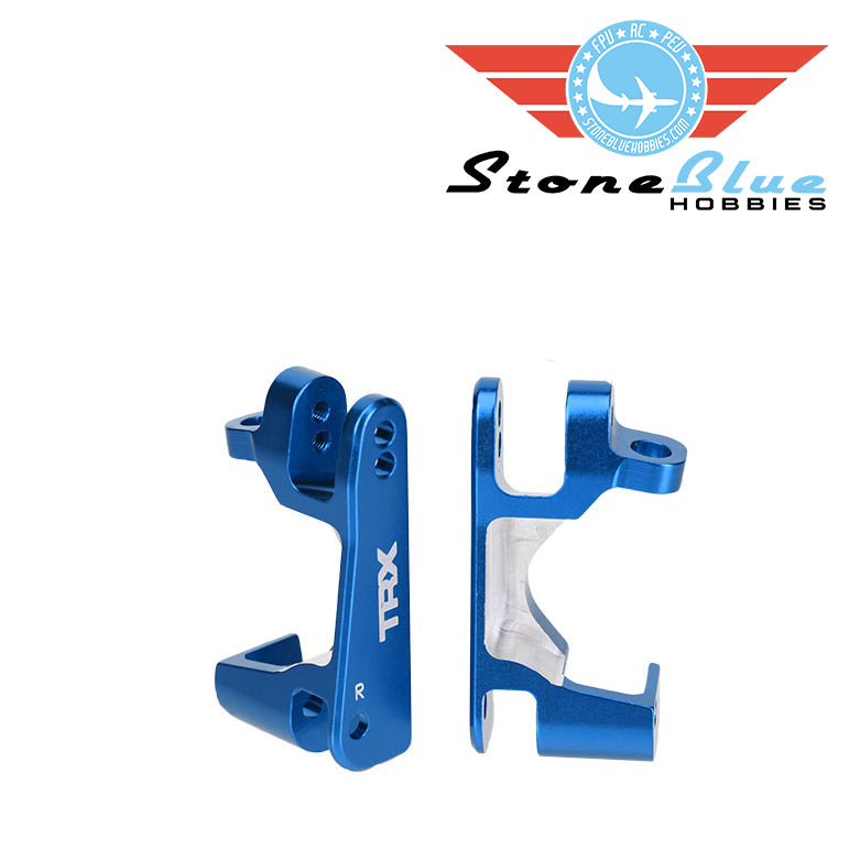 Traxxas Caster blocks (c-hubs), 6061-T6 aluminum (blue-anodized), left & right 6832X