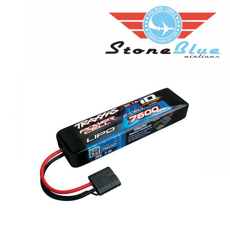 Traxxas ID Power Cell 7600mAh 7.4v 2-Cell 25C LiPo Battery