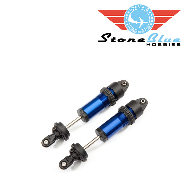 Traxxas  Shocks, GT-Maxx®, aluminum (blue-anodized) (fully assembled w/o springs) (2)