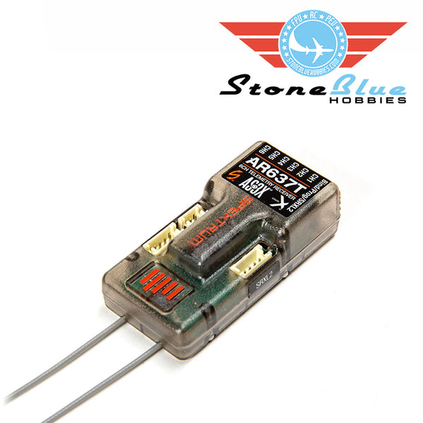Spektrum AR637T DSMX 6-Channel AS3X Telemetry Receiver