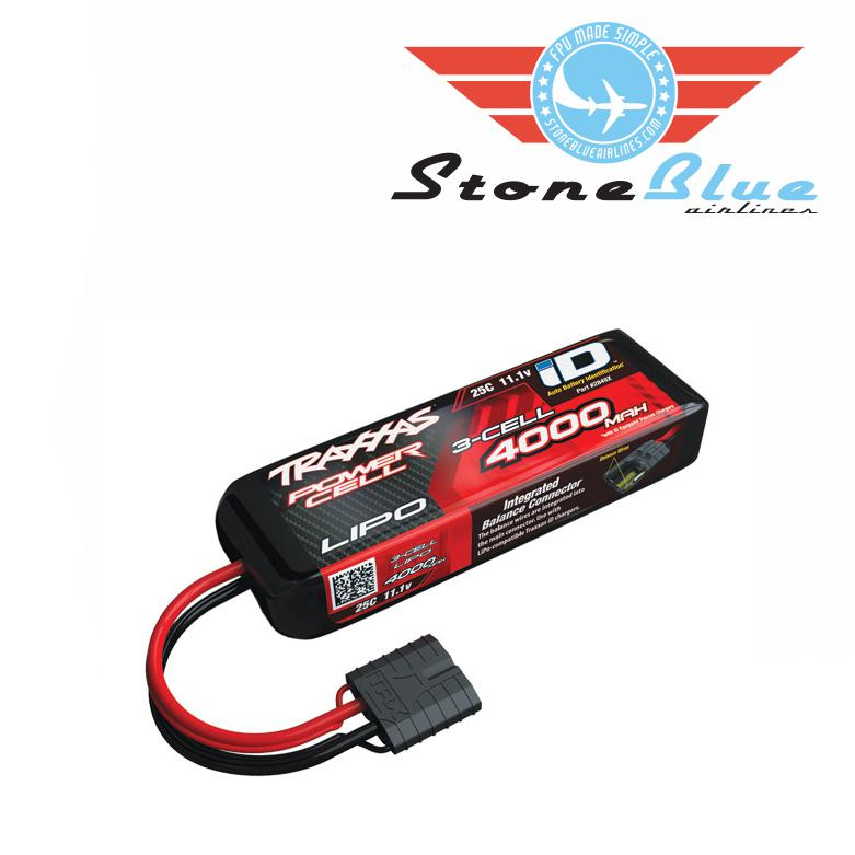 Traxxas ID Power Cell 4000mAh 11.1v 3S 25C Lipo Battery