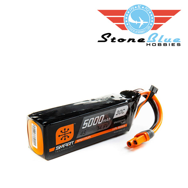 Spektrum 14.8V 5000mAh 4S 30C Smart LiPo Battery: IC5