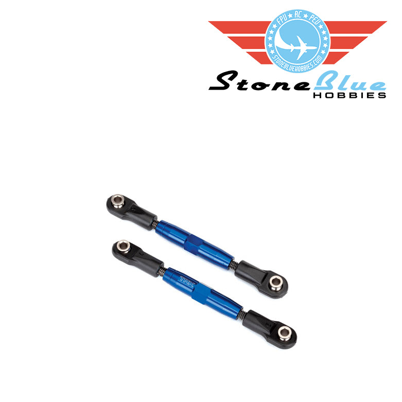 Traxxas Camber links, front, TUBES blue-anodized, 7075-T6 aluminum 3643x