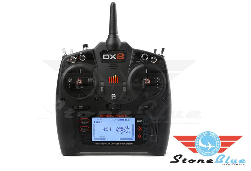 Spektrum DX8 8-Channel DSMX Transmitter Gen 2, Mode 2 *Pre-Order*