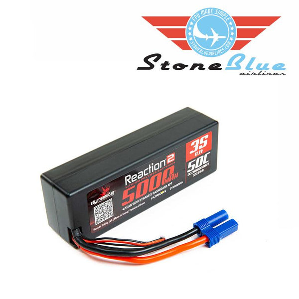Dynamite Reaction 2.0 11.1V 5000mAh 50C 3S Hardcase LiPo Battery, EC5