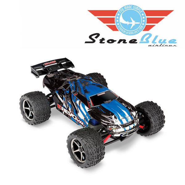 Traxxas E-Revo VXL 1-16 4WD Brushless Monster Truck RTR Blue