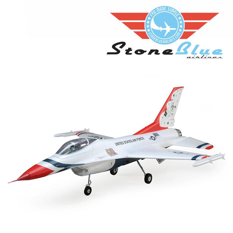 E-flite F-16 Thunderbirds 70mm EDF BNF Basic with AS3X and SAFE Select