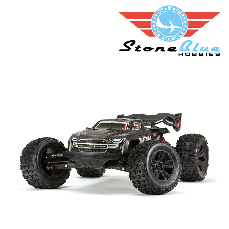 Arrma 1/8 KRATON 4WD EXtreme Bash Roller Speed Monster Truck, Black