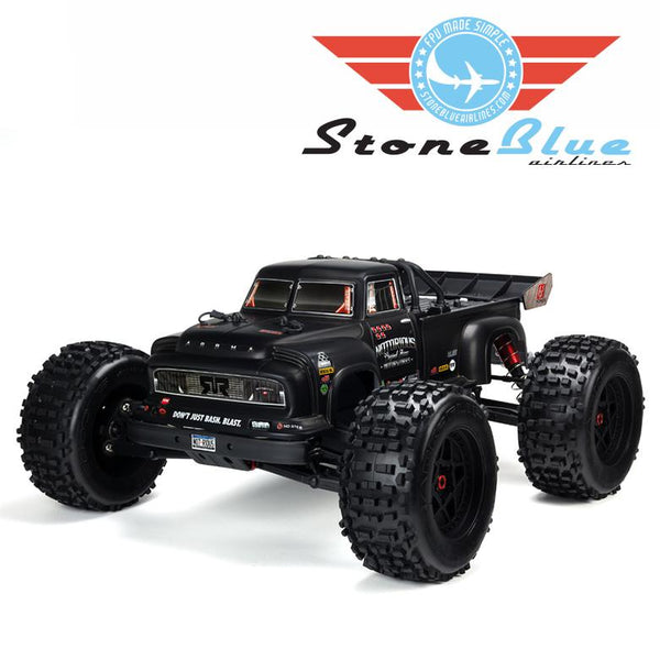 Arrma 1/8 NOTORIOUS 6S BLX 4WD Brushless Classic Stunt Truck, Black *Backorder*