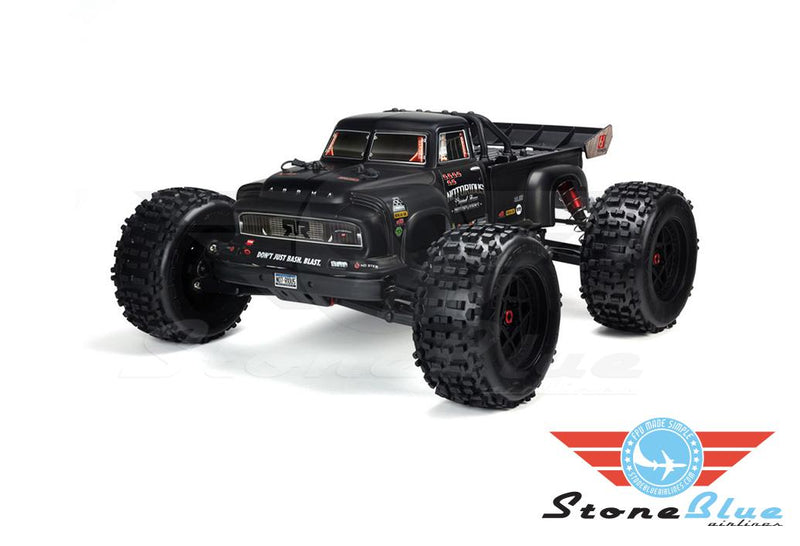 Arrma Body, Black Real Steel: Notorious 6S BLX AR406147