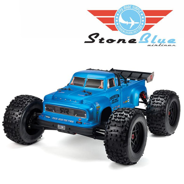 Arrma 1/8 NOTORIOUS 6S BLX 4WD Brushless Classic Stunt Truck, Blue
