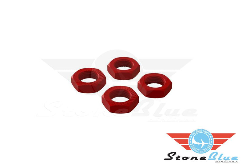 ARRMA Wheel Nut Aluminum 17mm Red (4PCS)
