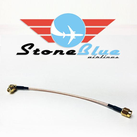 "6"" Right Angle SMA Male to SMA Female Extension Cable (1pc)"