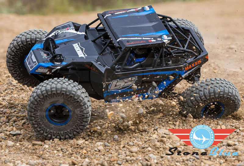 Losi 1-10 Rock Rey 4WD Brushless RTR with AVC, Blue