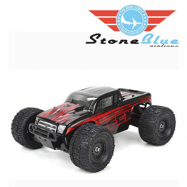 ECX 1-18 Ruckus 4WD Monster Truck RTR, Black-Red *IN STORE PURCHASE ONLY*
