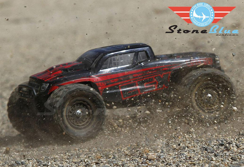 ECX 1/18 Ruckus 4WD Monster Truck RTR, Black-Red *IN STORE PURCHASE ONLY*