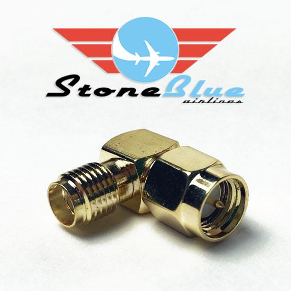 Right Angle SMA Adapter Male to Female (1pc)