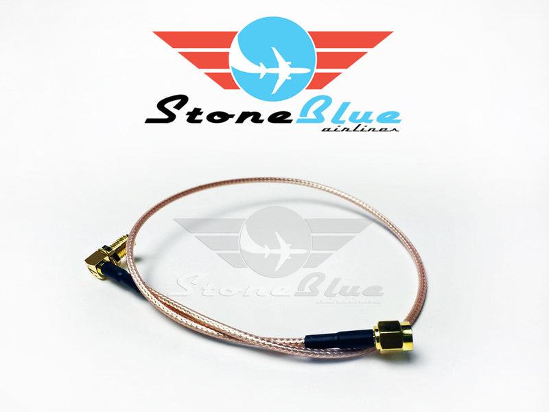 "16"" Right Angle SMA Male to SMA Female Extension Cable (1pc)"