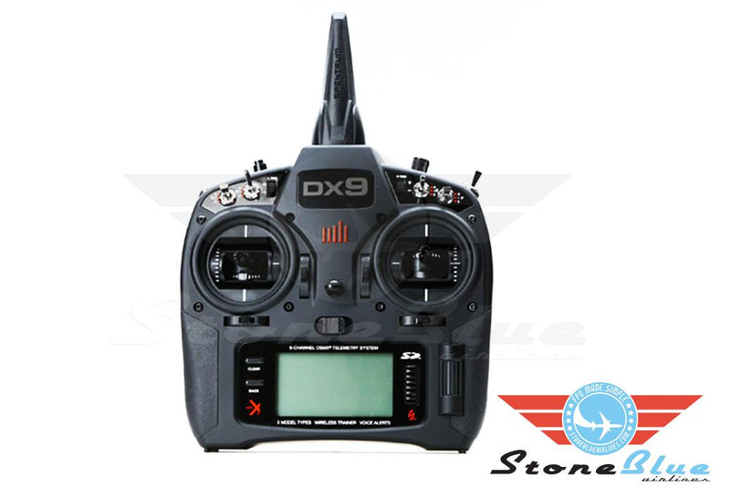 DX9 Black 9-Channel DSMX Transmitter Only, Mode 2