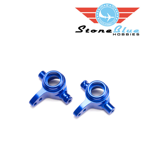 Traxxas Steering Blocks, 6061-T6 aluminum (blue-anodized), left & right 6837X