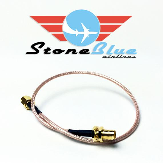 "12"" SMA Male to SMA Female Extension Cable (1pc)"
