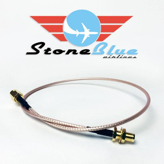 "16"" SMA Male to SMA Female Extension Cable (1pc)"
