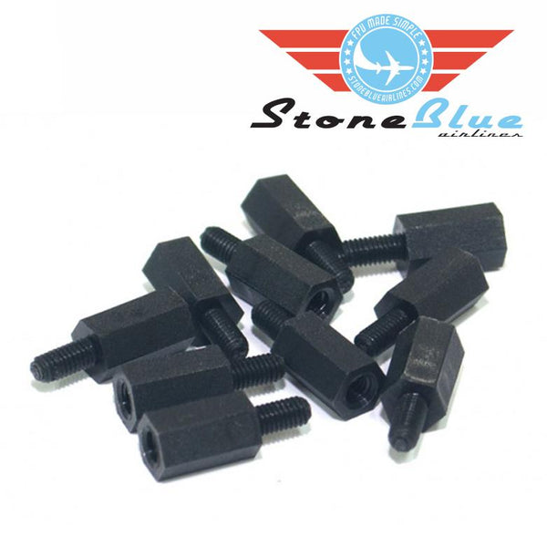 Nylon Standoffs M3x8x6mm