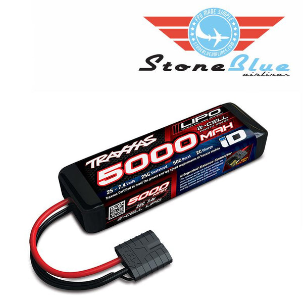 Traxxas ID Power Cell 5000mAh 7.4v 2S 25C Lipo Battery 2842X