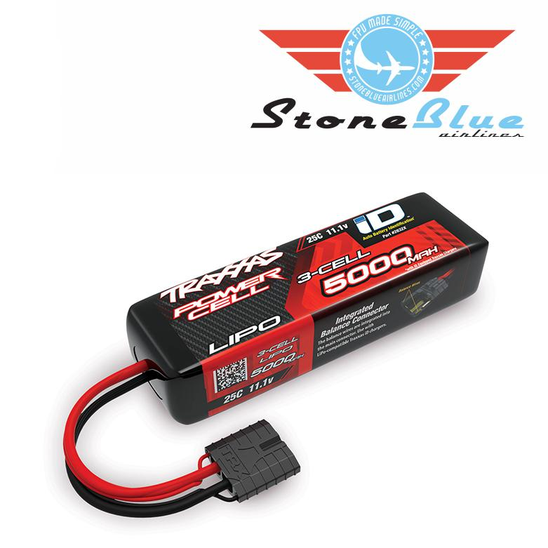 Traxxas ID Power Cell 5000mAh 11.1v 3S 25C Lipo Battery Short 2832X