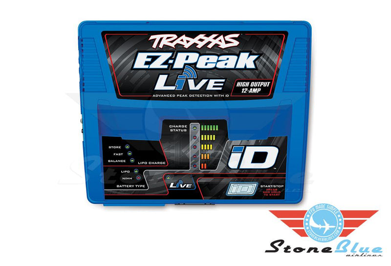 Traxxas EZ-Peak Live 12-amp NiMH-LiPO Fast Charger with ID Technology