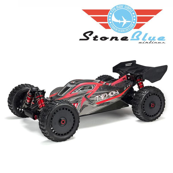 Arrma 1/8 TYPHON 6S BLX 4WD Brushless Buggy Red-Grey *Backorder*