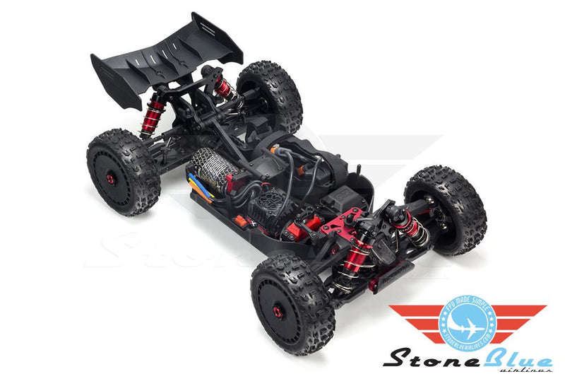 Arrma 1/8 TYPHON 6S BLX 4WD Brushless Buggy Red-Grey