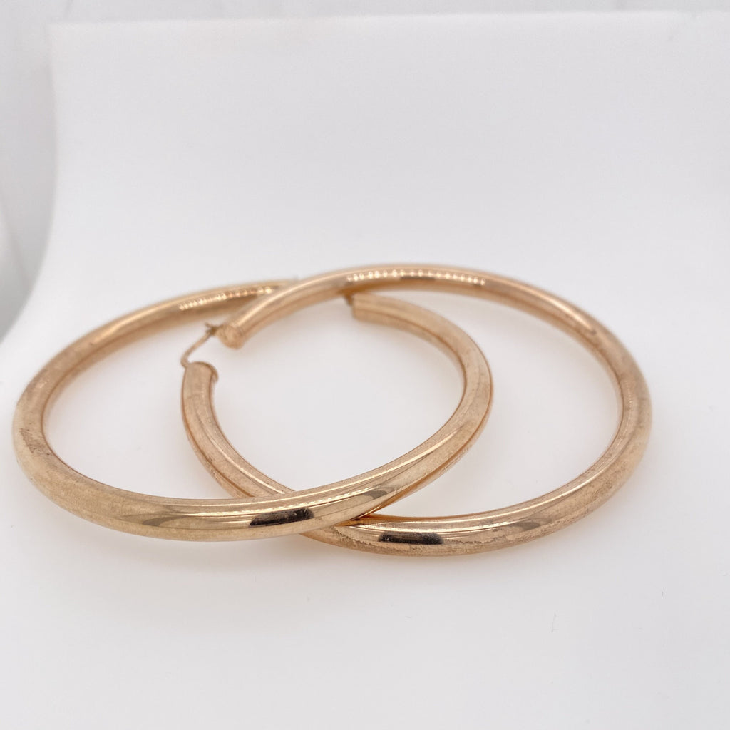 Rose Gold Sterling Hoop Earrings