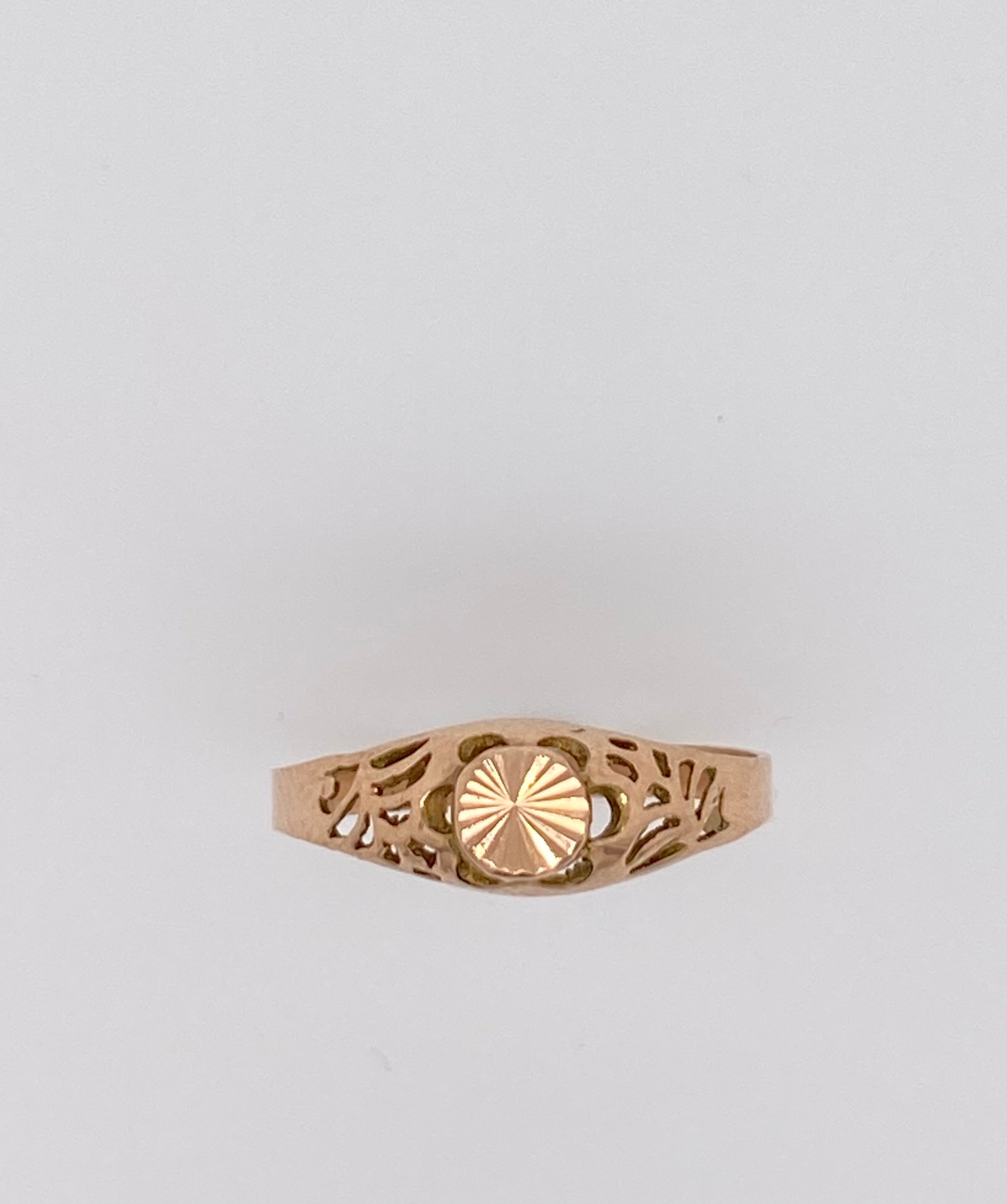 Rose Gold Filigree Ring